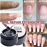 Magic Cracked Nail Repair Gel, Natural Quick Nail Repair Gel, Nail Damage Emergency Treatment, Easy to Use - Strengthen & Repair Broken Nails for Long Time (1pc Black)