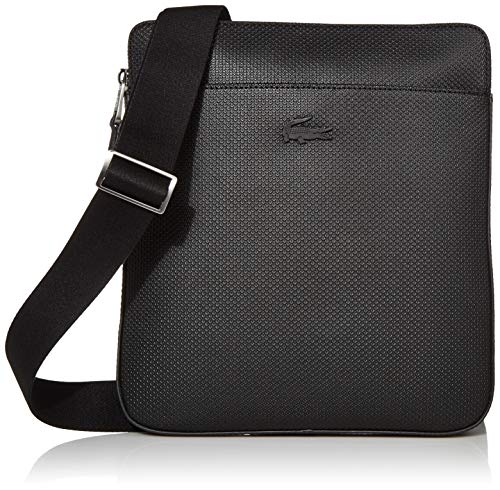 Lacoste Men's CHANTACO Flat Crossover Bag, Black, One Size
