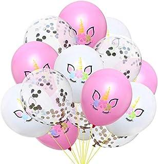SooFam 15 Pcs/Set Unicorn Balloons Cute Colorful Latex Balloons Baloon Unicorn Party Decoration Balloons Birthday Party De...