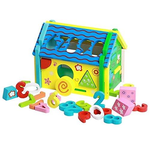 ABBY Bébé jouets d'enfance d'éducation précoce des combinaisons de démontage de forme numérique mains-sur Smart maison maison cerveau forme cognitive