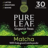 Pure Leaf 100% Organic Matcha Green Tea Powder for Green Tea Matcha Latte, Matcha baking recipes, Green Tea Smoothies Matcha Powder 30g Trial Size, 1.5 Ounce