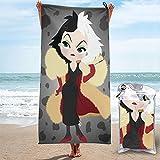 2021 película crue-lla de vil nicholas britell juventud cómics acción en vivo actividad toalla playa toalla set cómodo seco interior artículos al aire libre