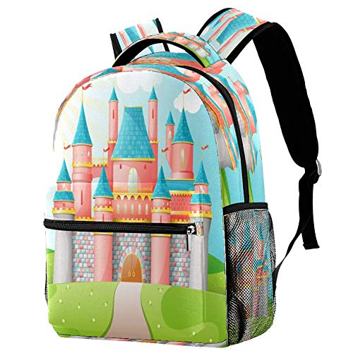 Epic Blue Surfing Wave - Mochila de agua tropical para escuela, bolsa de libro, mochila informal para viajes, estampado 7 (Multicolor) - bbackpacks004