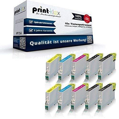 10x Kompatible Tintenpatronen für Epson Stylus SX218 SX400 SX400WiFi SX405 SX405WiFi SX410 SX415 SX417 SX510W SX515W SX600FW SX610FW T0711 T0712 T0713 T0714