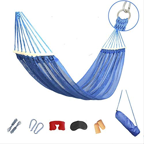 None branded SWIIM Hammock Outdoor Garden Hammock Outdoor Single Ice Mesh Anti-Side Turn Hammock Size 200X120cm