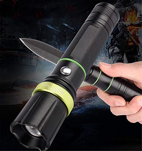 Led-Taschenlampe Outdoor-Jagd-Anti-Body-Waffe Helles Licht Ultrahelles Lade-Camp Taktische Mehrzwecktaschenlampe Mit Messer Mit Sicherheitshammer