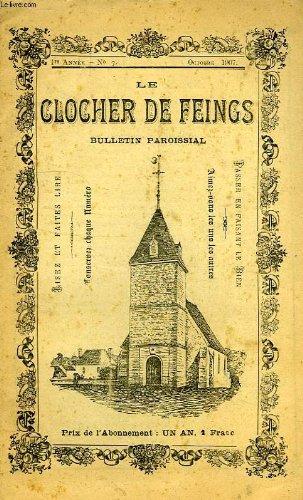 LE CLOCHER DE FEINGS, BULLETIN PAROISSIAL, 1re ANNEE, N° 7, OCT. 1907