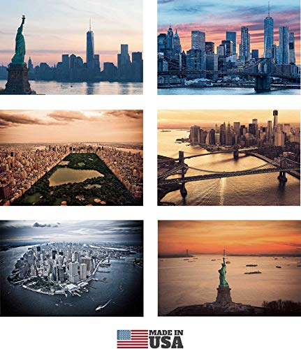 New York Postkarten Set von 30 Styles. Collectible Edition von 4 x 6 Post Karten von NY Sehenswürdigkeiten, Skylines und Antennen-Views. Hergestellt in den USA