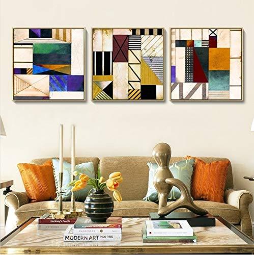 Moderne minimalistische woonkamer decoratie schilderen restaurant schilderijen muurschildering sofa achtergrond muur drieluik slaapkamer raam abstract schilderij (50 * 50cm)