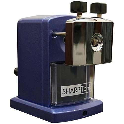 SharpTank - Portable Pencil Sharpener (Metallic Plum) - Compact & Quiet Classroom Sharpener That Gets Straight to The Point!