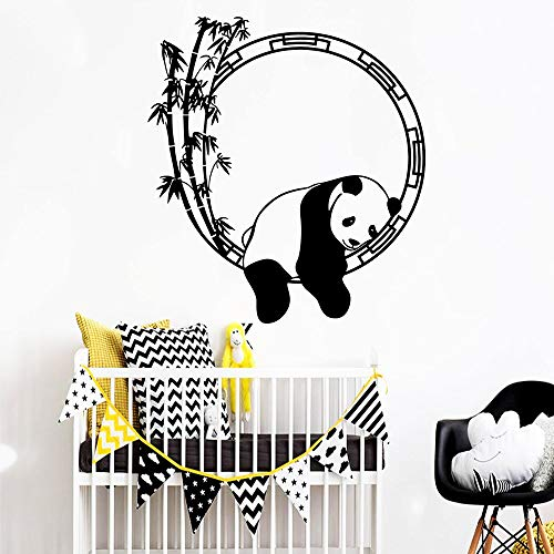 Black Stickers Panda Wall Stickers Decorative Stickers Children's Room Living Room Decoration Waterproof Decals A9 43x47cm