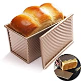 COLIBROX Loaf Pan with Lid Non-Stick Bakeware Carbon Steel Bread Toast Mold with Cover for Baking Bread