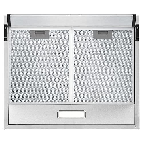 Bomann DU 623.3 Dunstabzugshaube Unterbau – Glas-Wrasenschirm – Edelstahl-Optik - 3