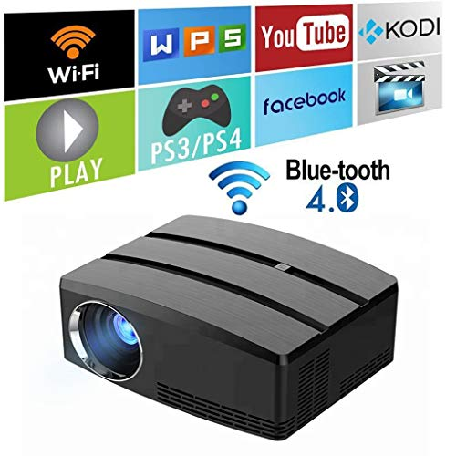 Mini draagbare LED Wifi-projector met Bluetooth LCD HD Wireless Home Movie Projector 1080p Airplay HDMI USB VGA AV Audio-luidsprekers Zoom