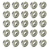 Moapei 30pcs 608zz Rodamientos de Bolas Rodamientos de Skate Cojinetes de Patines de Rueda y Longboard,Metal Doble Revestimiento/8 x 22 x 7 mm