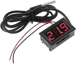 A0127 DS18B20 - Termómetro digital (0,56 pulgadas, impermeable, sensor de temperatura, sonda DC 12 V 24 V)