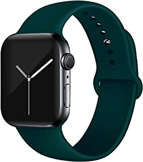 EXCHAR Sport Band Compatible with Apple Watch Band 40mm 38mm 44mm 42mm, Soft Silicone Strap, Replacement Wristband for iWatch Band Series 5 4, Series 3, 2, 1