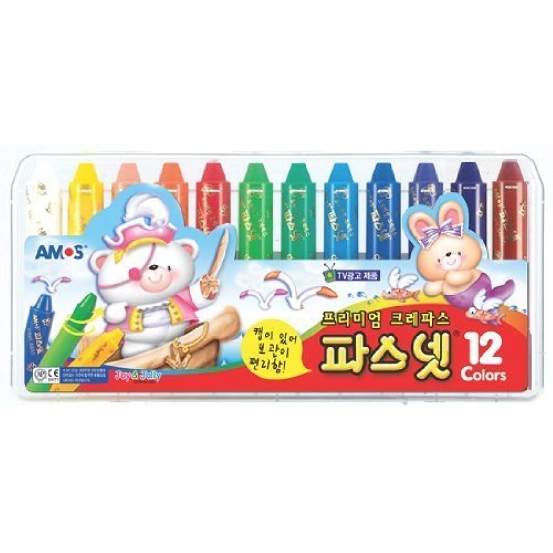 Amos Premium Non-toxic Silky Crayon Pasnet 12 Colors