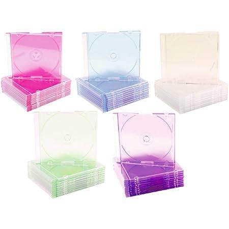 CD y DVD con una cobertura del joyero caja de plástico transparente , 10 unidades