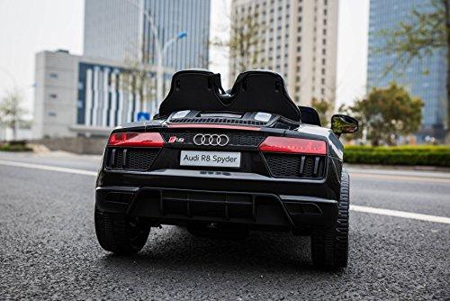 RC Auto kaufen Kinderauto Bild 2: Kinderelektroauto - Audi R8 - 2 Motoren - Kinderfahrzeug Lizenz Fernbedienung - Schwarz*