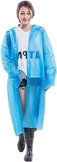 kolila Disposable Rain Ponchos Emergency Drawstring Hood Poncho in Bulk   Extra Thick, Waterproof Assorted Colors