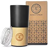 LeafLife Bamboo Travel Mug with Lid | 18oz Triple Insulated Tumbler For Men & Women | Premium Double Wall and Vacuum Sealed Stainless Steel Coffee Mug