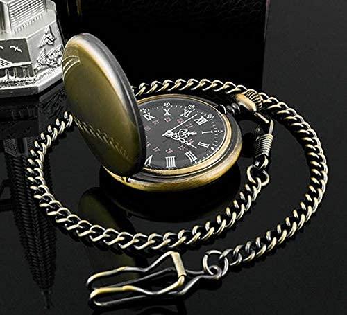 HYCy 50Pcs / Lot Silber/Gold/Schwarz/Bronze Polierte Quarz Taschenuhr Steampunk Uhren