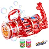 Gatling Bubble Machine,Gatling Bubble Gun 2021 Automatic Bubble Blower Machine Electric Bubble Gun Bubble Machine Toy for Toddler (red, 1 Pack)