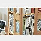 JD Librero Estante Estantes de estantería giratorios de pie de Madera creativos Minimalistas y Modernos - Cuatro Colores Disponibles (Color : B)
