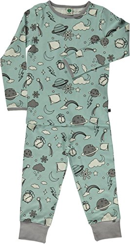 Smafolk Space Pajama Set - Ether Blue - 92-98cm - 2-3 Years