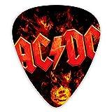 12 púas de guitarra, Acdc 3 púas de púas de guitarra de diferentes espesores para bajo, guitarras eléctricas y acústicas