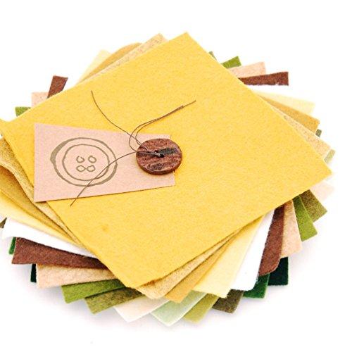 Button Company The Scampoli in Feltro Quadrati, Lato 15 cm, Colori Assortiti da Giardino
