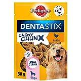PEDIGREE Dentastix Chewy ChunX Snacks dentales para la Limpieza bucal de tu Perro Sabor Pollo, Perros medianos y Grandes. (5 bolsitas x 68g)