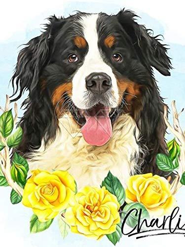 HFWYF DIY 5D Diamond Painting Kits Frameless Dog cat puppy cute bulldog shepherd dog DIY rhinestone diamond art embroidery Crafts for adults and children 30x40cm