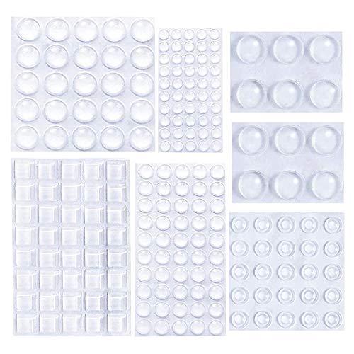 2000 Stück elastischer Puffer transparenter Schutzpuffer-Gummipuffer selbstklebendes D?mpfungspad für Tür, M?bel, Notebook, Türsto?stangenanschlag