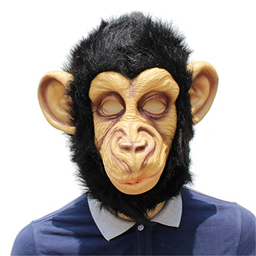 KODH Halloween Maske Tier Kostüme Spielen Dekoration Maske Latex Material Gorilla Maske New Ball Dress Up Mask ( Size : One Size )