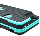 The Only High-Powered Stun Gun that Protects, Recharges Your iPhone 6,6s - Concealed Inside a Durable Weatherproof Case - Flexibility to Attach or Detach - 4.0mAh for Maximum Self Defense - Teal