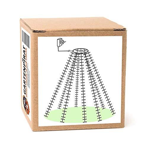 Baum-Lichterkette 640 LED 8x200 cm, Drahtketten mit Ring und Micro-LED, Weihnachtsbaumbeleuchtung