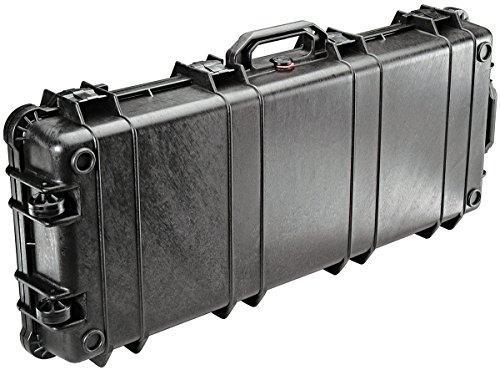 PELI 1700 valise de transport longue pour trépieds et carabines de chasse et de tir sportif, IP67 étanche à l'eau et à la poussière, capacité de42L, fabriquée aux États-Unis, sans mousse, noire