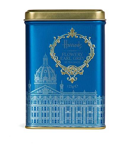 ハロッズ(Harrods) フラワリーアールグレイ ティーバッグ50個 缶入り