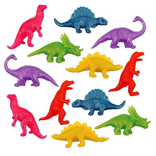 Juego de 12 botes de gominolas con diseño de dinosaurios para cumpleaños de niños y niñas