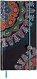 Boncahier 102014 Notizbuch 9 x 17.5 cm, 144 Seiten, liniert, Orient Motiv, schwarz/bunt