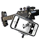 Guitar Headstock Clip On Mount with Ball Head Joint ~ For SmartPhones & Most Cameras ~ Close Up Home Recording ~ Plus Guitar Pick Holder Keyring