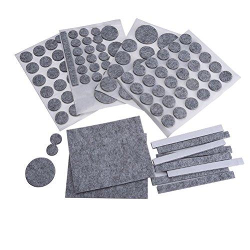 Preisvergleich Produktbild NUOLUX 132pcs Filz Pads für Möbel Floor Protector (grau)