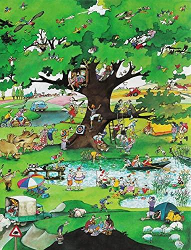 ZYYSYZSH Spring Jigsaw Puzzle Póster de 1000 Piezas, Rompecabezas de Papel, Rompecabezas de Juguete de descompresión para niños y Adultos, Pintura (38 x 26 cm)