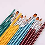 BU-SOH Pinceles de Artista 5 Palillos de Lana Cepillo de Nylon Jefes de Aceite del Sistema de Cepillo de la Acuarela de la Pintura del Cepillo del Arte Pintura Herramientas para Pintar Lienzo