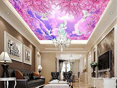Yosot 3D Tapeten Individuelle Fototapete Deckengemälde Cherry Blossom Wolken Dekoration Malerei 3D Wandbild Tapeten Für Wände 3D-400Cmx280Cm