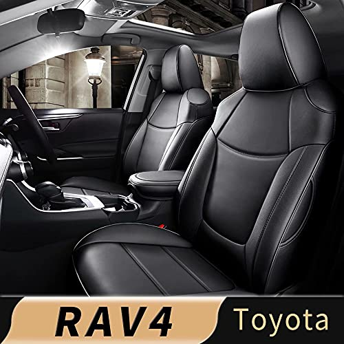 IKABEVEM Custom for Toyota RAV4 Adventure and TRD-Off Road Car Seat Cover, Luxurious Full Set of Car Seat Covers with Airbag Compatible.Automotive Interior Accessories, Easy to Install