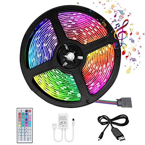 Ruban LED 5M Bande LED RGB Multicolores avec...