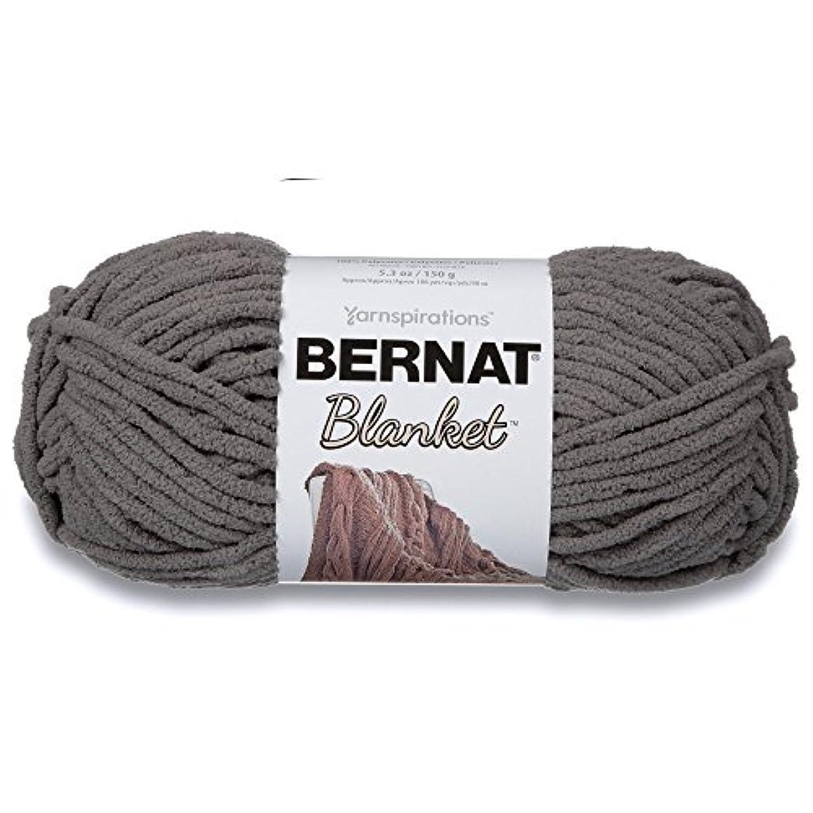 Bernat Blanket Super Bulky Yarn, 5.3oz, Guage 6 Super Bulky, Dark Grey